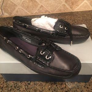 Black Baja Sebago Boat Shoes, Size 8, Never worn